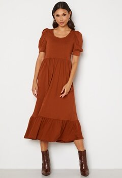ONLY May Life S/S Puff Dress Arabian Spice Bubbleroom.dk