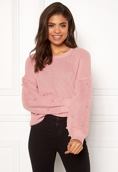 ONLY Mella L/S Pearl Pullover Misty Rose Bubbleroom.dk