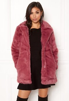 ONLY Milana Faux Fur Coat Baroque Rose Bubbleroom.dk