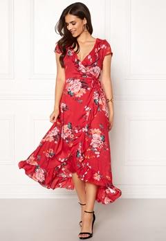 ONLY Milla S/S Long Dress High Risk Red Bubbleroom.dk