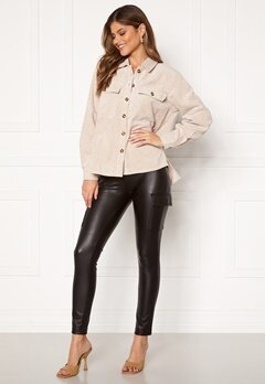 ONLY Miri Faux Leather Cargo Legging Black Bubbleroom.dk