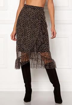 ONLY Moni Leo Mesh Skirt Black/Leo Bubbleroom.dk