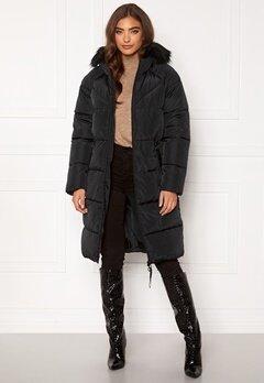 ONLY Monica Long Puffer Coat Black Bubbleroom.dk
