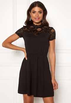 ONLY Monna s/s Mix Dress Black Bubbleroom.dk