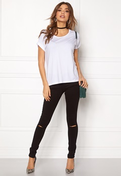 ONLY Moster s/s Top White Bubbleroom.dk