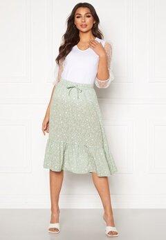 ONLY Nadja-Addiction Long AOP Skirt Frosty Green Bubbleroom.dk