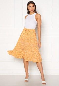 ONLY Nadja-Addiction Long AOP Skirt Golden Spice Bubbleroom.dk