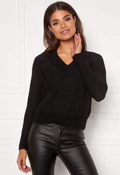 ONLY Naila L/S Glitter Pullover Black Bubbleroom.dk