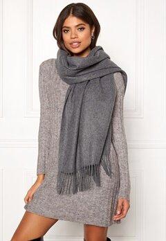 ONLY Nala Weaved Wool Scarf Medium Grey Melange Bubbleroom.dk