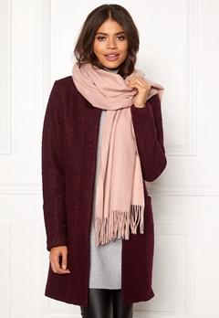 ONLY Nala Weaved Wool Scarf Misty Rose Bubbleroom.dk