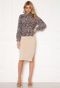 ONLY Nella Slit Skirt Pumice Stone bubbleroom.dk