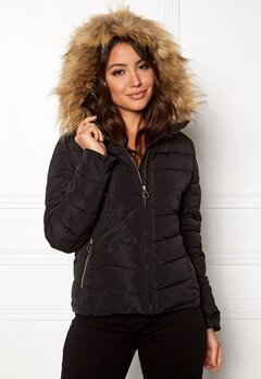 ONLY New Ellan Quilted Jacket Black Bubbleroom.dk