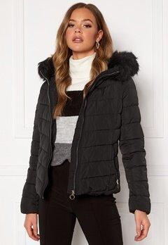 ONLY New Ellan Quilted Jacket Black Bubbleroom.dk