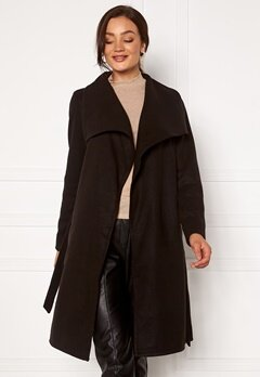 ONLY New Phoebe Drapy Coat Black Bubbleroom.dk