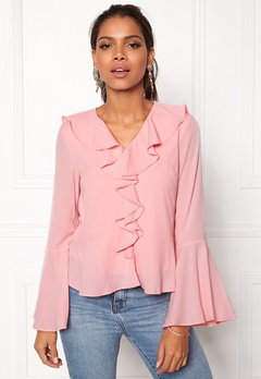 ONLY Nix L/S Top Rose Shadow Bubbleroom.dk