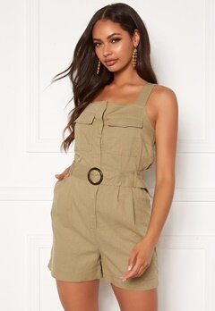 ONLY Noreen-Bibs Playsuit Martini Olive Bubbleroom.dk
