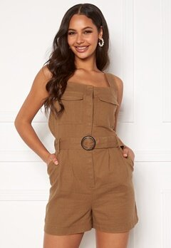 ONLY Noreen-Bibs Playsuit Toasted Coconut Bubbleroom.dk