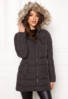 ONLY North Nylon Coat Black Bubbleroom.dk