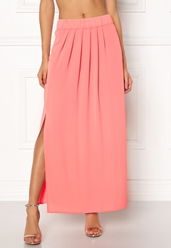 ONLY Nova Lux Maxi Skirt Solid Strawberry Ice Bubbleroom.dk