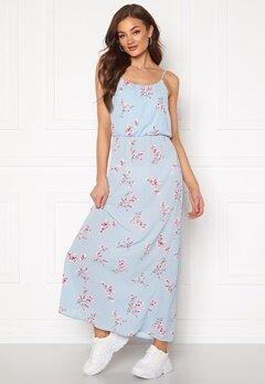 ONLY Nova Lux S/L Maxi Dress Cashmere Blue Bubbleroom.dk