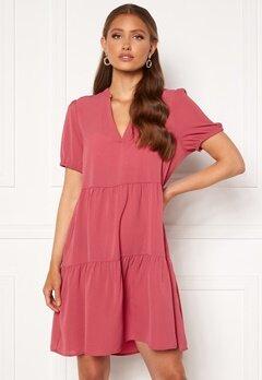 ONLY Nova Lux S/S Thea Dress Solid Baroque Rose<br>  Bubbleroom.dk