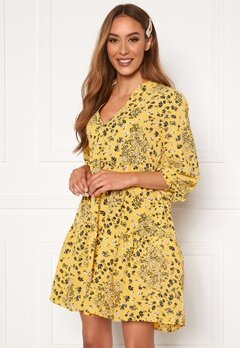 ONLY Nova Lux Thea Dress Misted Yellow AOP Bubbleroom.dk