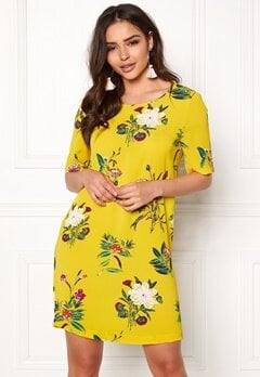 ONLY Nova Tee Dress Yellow Bubbleroom.dk