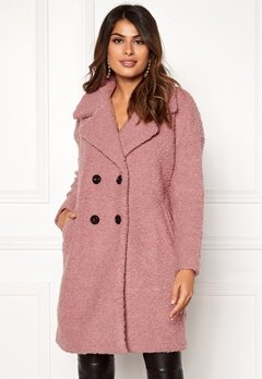 ONLY Paloma Boucle Wool Coat Baroque Rose Bubbleroom.dk