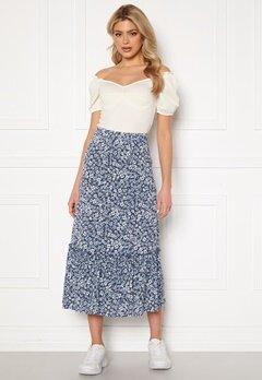 ONLY Pella Skirt Jrs Vintage Indigo/Flora Bubbleroom.dk