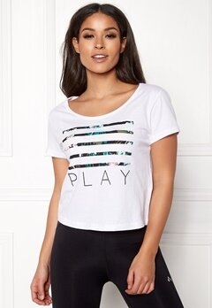 ONLY PLAY Blossom Short SS Top White Bubbleroom.dk