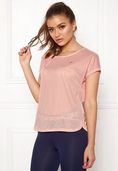 ONLY PLAY Jasmin Training Loose Tee Silver Pink Bubbleroom.dk