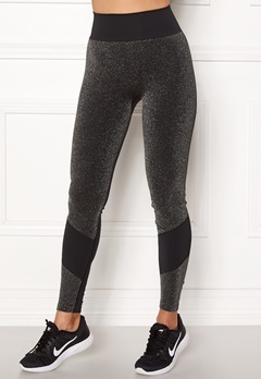 ONLY PLAY Sparkle Seamless Tights Black Bubbleroom.dk