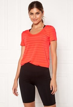 ONLY PLAY Sue V-Neck Training Tee Fiery Coral Bubbleroom.dk