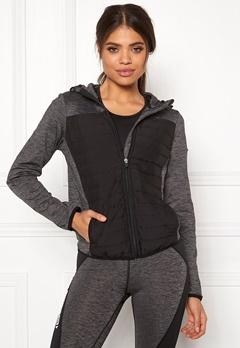 ONLY PLAY Vera Quilted Hood Jacket Dark Grey Melange Bubbleroom.dk