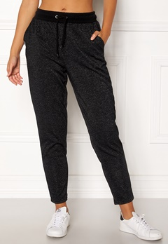 ONLY PLAY Zira Glitter Sweat Pants Black Bubbleroom.dk