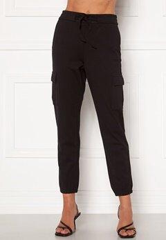 ONLY Poptrash Life Cargo Belt Pants Black bubbleroom.dk