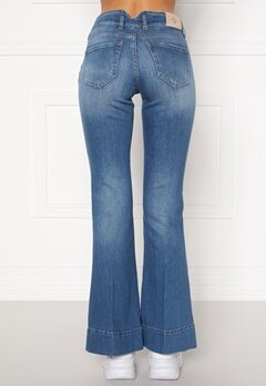 ONLY Qbloom Reg FL MB DNM Jeans Medium Blue Denim Bubbleroom.dk
