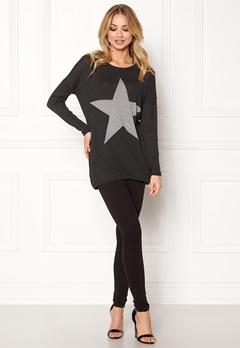 ONLY Reese L/S Pullover Knit Dark Grey Melange Bubbleroom.dk