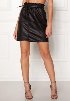 ONLY Rigie PU Paper Bag Skirt Black Bubbleroom.dk