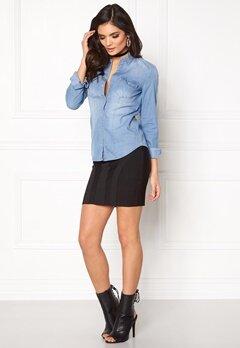 ONLY Rock It Fit Denim Shirt Light Blue Denim Bubbleroom.dk