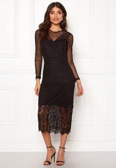 ONLY Sam L/S Lace Dress Black Bubbleroom.dk