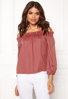 ONLY Samantha 3/4 Top Canyon Rose Bubbleroom.dk