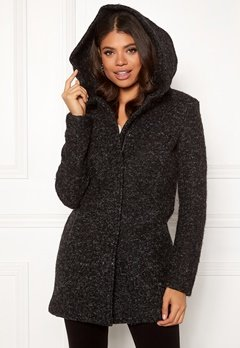 ONLY Sedona Boucle Wool Coat Black Bubbleroom.dk