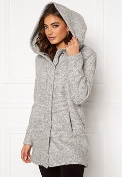 ONLY Sedona Boucle Wool Coat Light Grey Melange Bubbleroom.dk