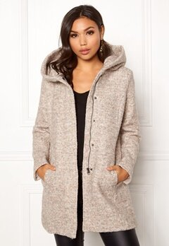 ONLY Sedona Boucle Wool Coat Nomad Bubbleroom.dk
