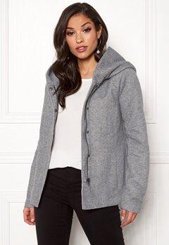 ONLY Sedona Short Jacket Light Grey Melange Bubbleroom.dk
