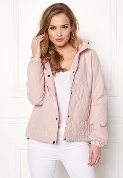 ONLY Serena Quilted Jacket Rose Smoke Bubbleroom.dk