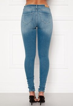 ONLY Shape Life Reg Sk Jeans Light Blue Denim Bubbleroom.dk