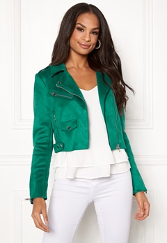 ONLY Sherry Cropped Biker Cadmium Green Bubbleroom.dk