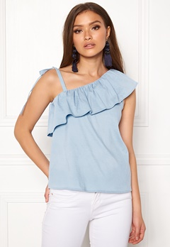 ONLY Sia One Shoulder Top Cerulean Bubbleroom.dk